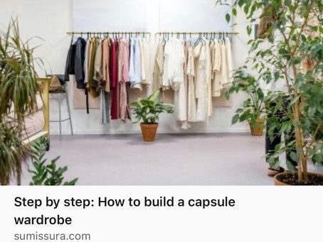 Check it out-My advice for a building a capsule wardrobe is on Sumissura!