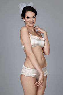 silk robe bridal lingerie