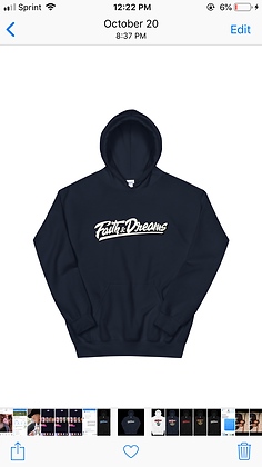 Faith and dreams signature NAVY hoodie
