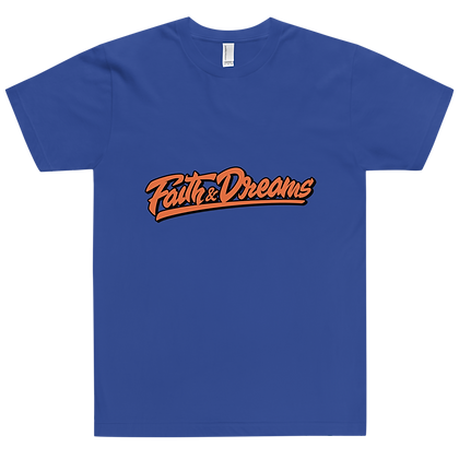 Faith & Dreams Blue Signature Orange Tee