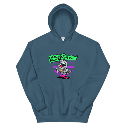Faith and Dreams Dove Neon Purple Hoodie