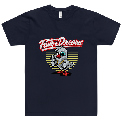 Faith & Dreams Gold Navy Tee