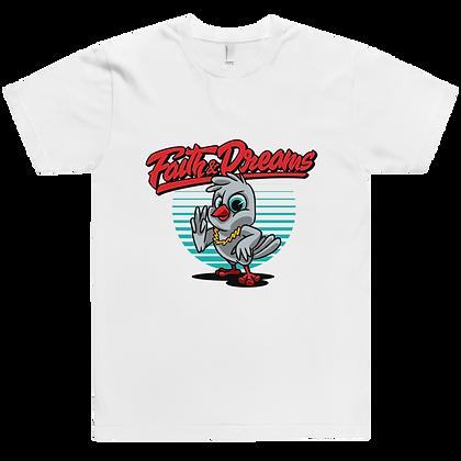 Faith & Dreams White Red Dove Tee
