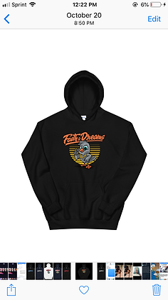 Faith and dreams orange dove hoodie