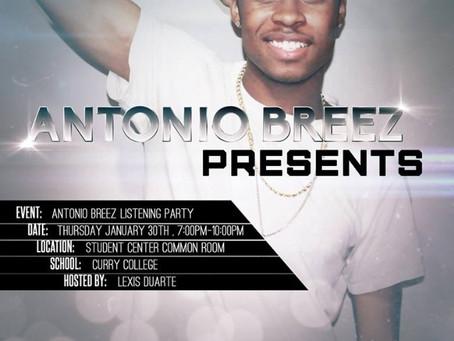 Antonio Breez Live @ Curry College Jan 30th