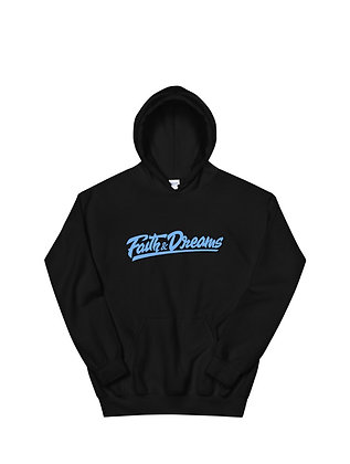 Faith and dreams signature baby blue hoodie