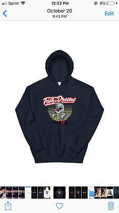 Faith and dreams red and white dove hoodie