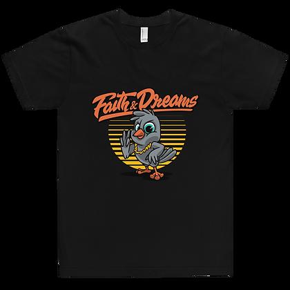Faith & Dreams Black Orange Dove Tee