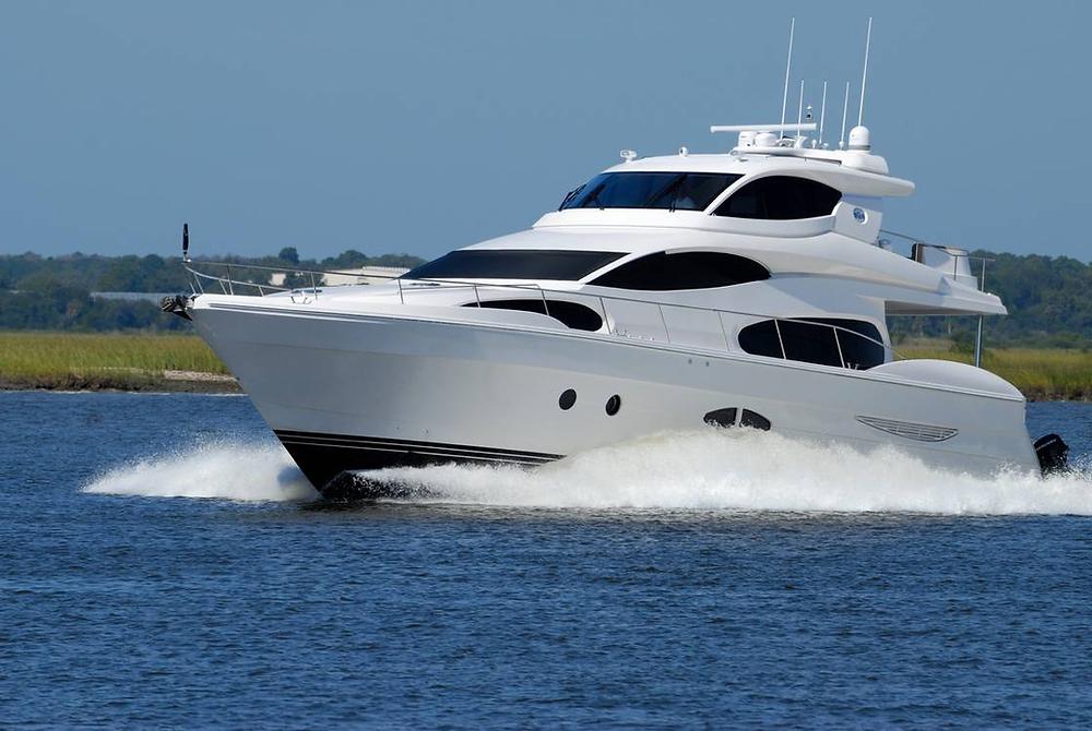 HD camera mounted on yacht