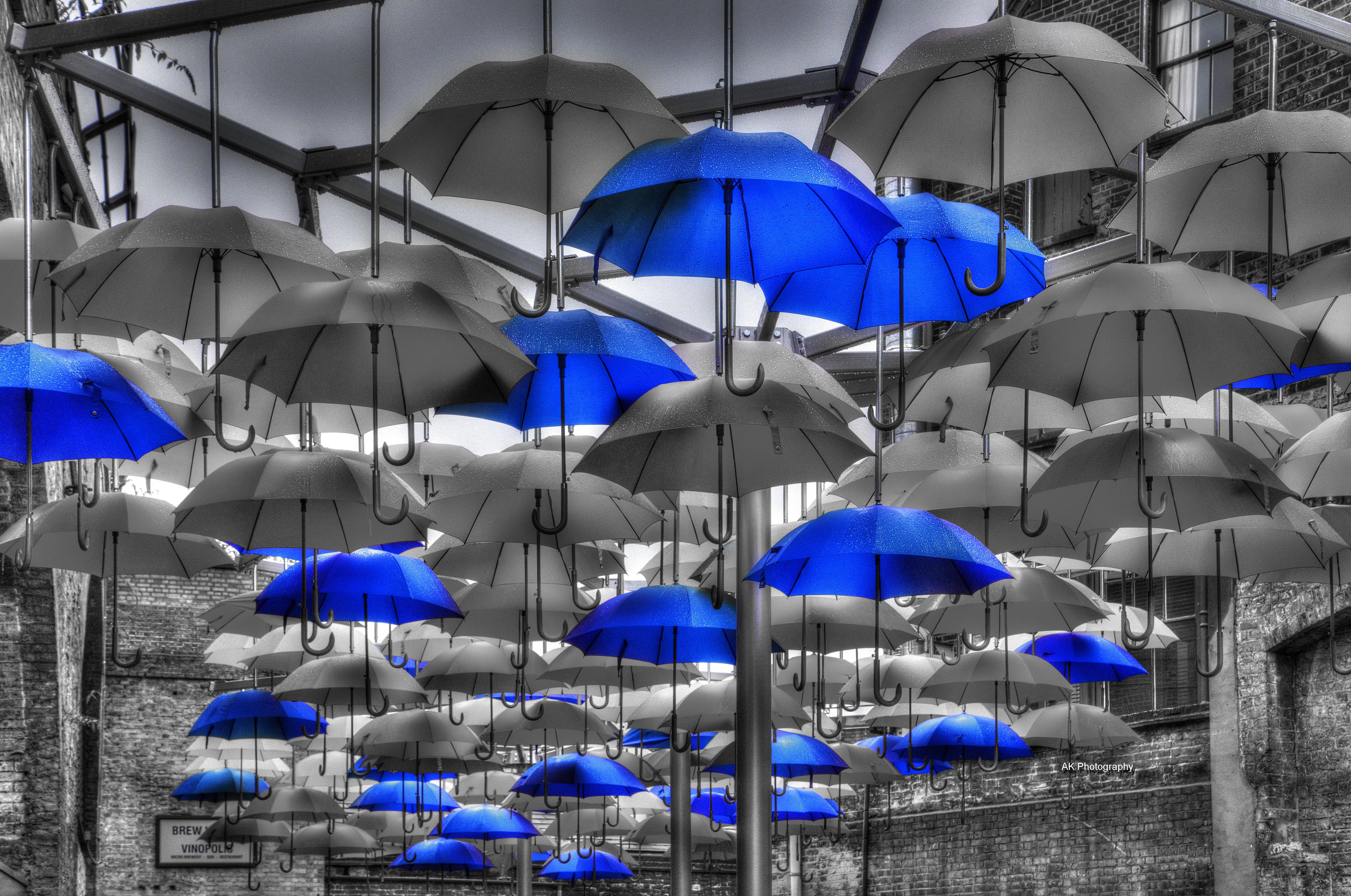 Coloured Umbrellas blue