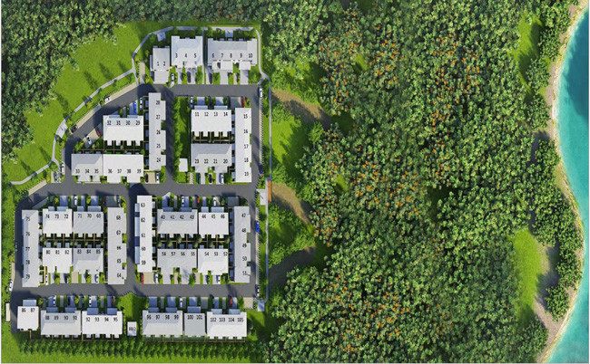 Pictured above is the new Creekside Townhouse Development in Thornlands, Queensland.
