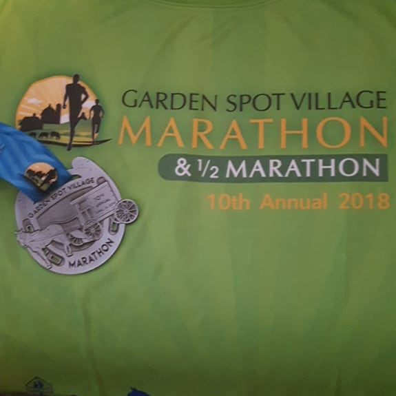 It's #medalmonday on #marathonmonday. Saturday's course kicked my butt but it was awesome