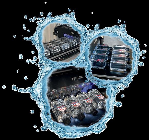 Живая родниковая вода с содержанием серебра. Производство ПЭТ бутылок с индивидуальным логотипом. Штоф 0,62 и 0,31 л.