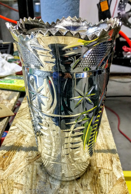 Dollar Store Vase with Chrome