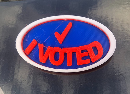 I Voted Sticker Pin