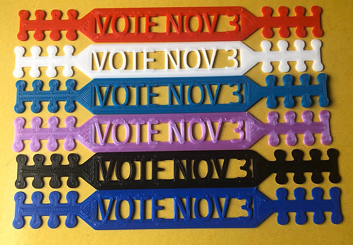 """12 """"Vote Nov 3"""" ear savers"""