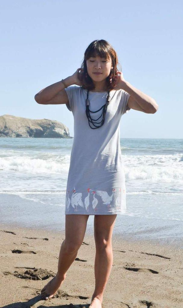 basic-t-shirt-dress---grey-with-cranes-z
