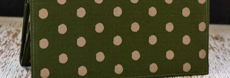 Peněženka tečkovaná zelená