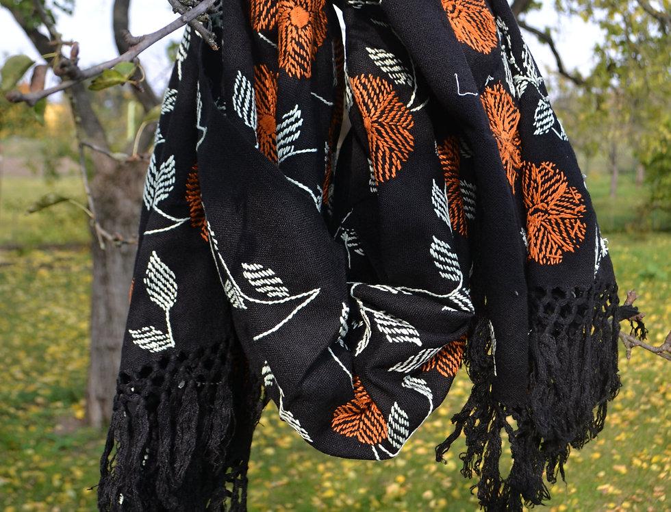 Šátek podzimní