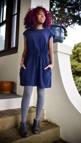 shift-dress---navy-zero-waste-fair-trade