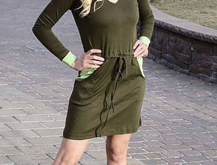 Šaty dvoubarevné