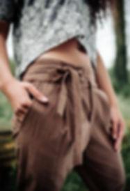 Kalhoty z organické bavlny