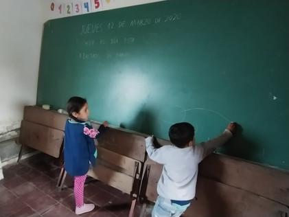 2020 Marzo, en la escuela de El Cachi