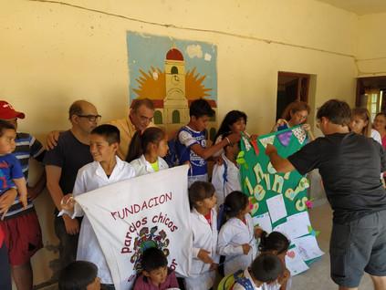 2019 Noviembre, en la escuela de La Candelaria, con Germán y familia.