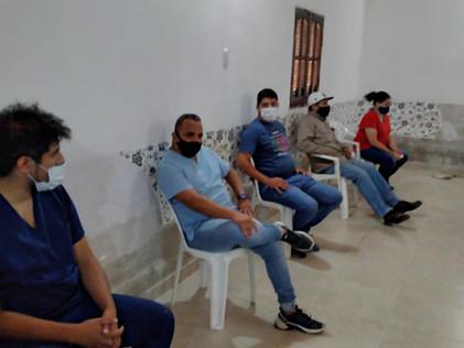 2021 Enero, Primera Jornada de vacunación Covid-19 en el Hospital de La Cañada, Santiago del Estero.