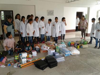 2017 Marzo, en la escuela de Yacu Hurmana
