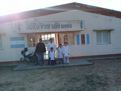 2018 Mayo, en las escuelas de República de Méjico, Santo Domingo y el Parroquial de Suncho Corral.