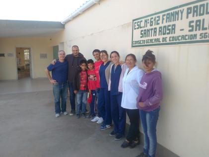 2017 Mayo, en la escuela de Santa Rosa de Casares.