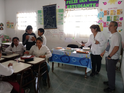 2018 Noviembre, en la escuela de Yacu Hurmana.