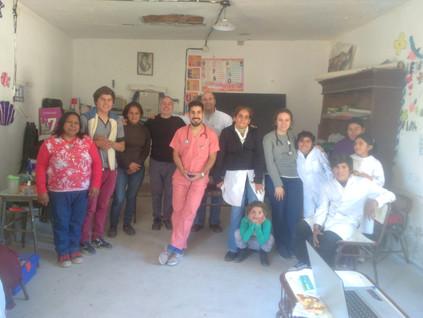 2017 Agosto, Escuela República de Méjico, cuando recibieron a los médicos de la UBA.