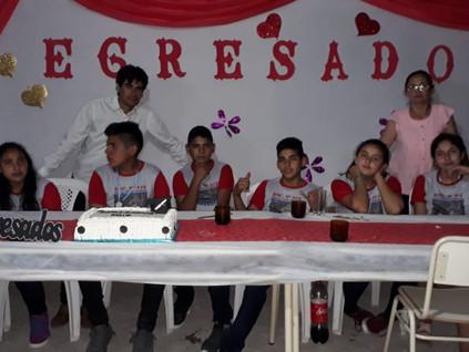 2019 Diciembre, Escuela de santa Rosa. Egreso de los alumnos de Inicial y Primario...