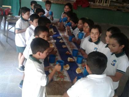 2017 Marzo, Escuela parroquial de Suncho Corral.