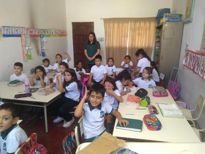 2018 Noviembre, con las rotantes de la UBA en las escuelas de El Cachi y La Candelaria.