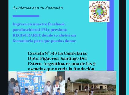 2020 Abril, Escuela N° 848 Nuestra Señora de la Candelaria.