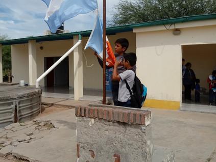 2018 Marzo, en la escuela de La Candelaria.