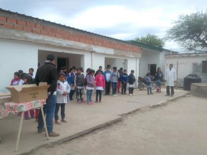 2017 Septiembre, en la escuela de El Cachi, festejando los 10 años de la Fundación!!