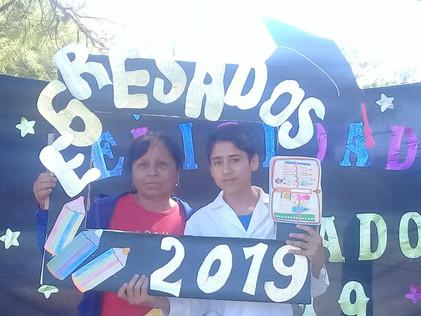 2019 Diciembre, en la escuela de El Cachi, despidiendo el año...