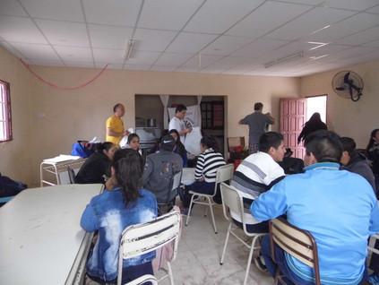 2018 Octubre, en el Colegio Secundario 7 de Noviembre, de Colonia Simbolar, con los Trashumantes de