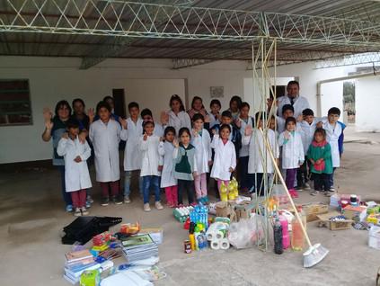 2018 Mayo, en las escuelas de Barrialito y Yacu Hurmana.