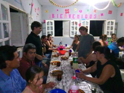 2016 Diciembre, Santa Rosa de Casares, en la fiesta de la entrega de premios para los chicos, docent