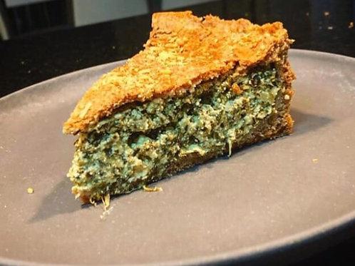 Torta de massa integral com espinafre e ricota