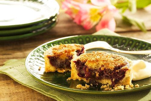 Torta de Blueberry com massa de amêndoas
