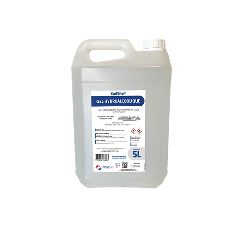 Gel hydroalcoolique en bidon de 5L GelSite®