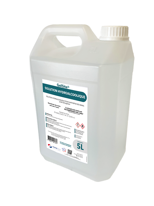 Solution hydroalcoolique en bidon de 5L GelSite®