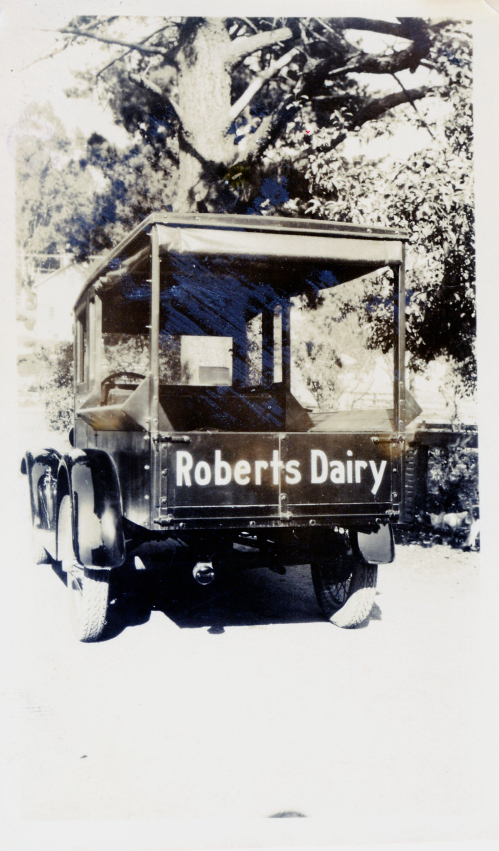 Roberts Dairy delivery truck. (Photo appears older than 1938.)4