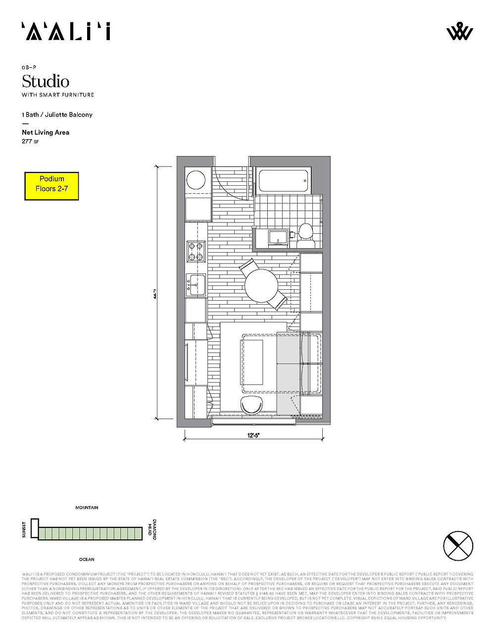 Podium Studio Floor Plan